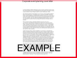 corporate event planning cover letter coursework help