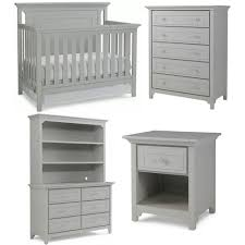 Grey Convertible Crib by Ti Amo Carino Nursery Set Convertible Crib 5 Drawer Chest Double
