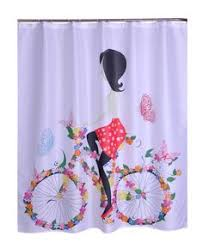 Washable Curtains Bathroom Products Polyester Fabric Transformers Printed Shower