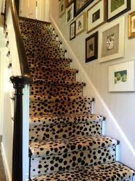 animal print carpet for stairs
