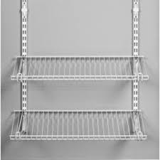 Closetmaid Shelftrack Hang Track Real Mod Closet Storage Systems Elfa Vs Rubbermaid Vs Closetmaid