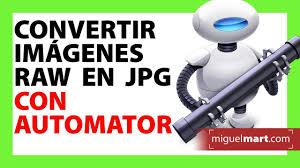 convertir varias imagenes nef a jpg convertir fotografías raw a jpg en mac con automator tip 01 youtube