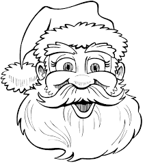 holiday santa claus coloring pages