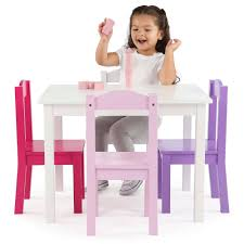 tot tutors table and chair set tot tutors kids wood table and 4 chairs set multiple colors