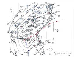 Surface Map Superstorm Of 1993