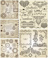 floral ornaments vector vector graphics