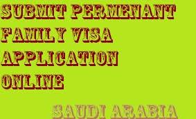 submit permenant family visa application online arabian gulf life