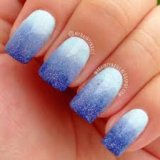 my dainty nails blue gradient ombre nails