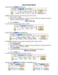 15 useful excel formula cheat sheet fromdev excel spreadsheet