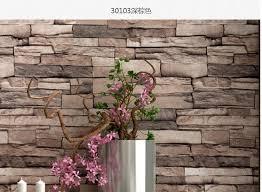 3d luxury wood blocks effect brown stone brick 10m vinyl wallpaper