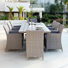 8 Seat Patio Dining Set - skyline design cielo 8 seat rectangular rattan outdoor dining set