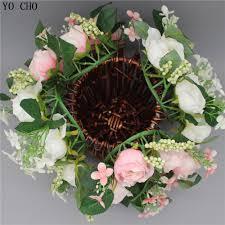 aliexpress com buy door wreath wall artificial rose christmas