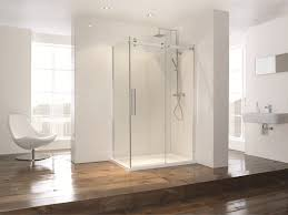 Leaking Frameless Shower Door by Bathroom Luxurious Chair Near Transparent Aqua Glass Frameless