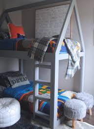 Build A Bunk Bed Build A House Bunk Bed White Picket Farmhouse