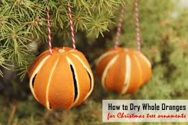 how to whole oranges for tree ornaments