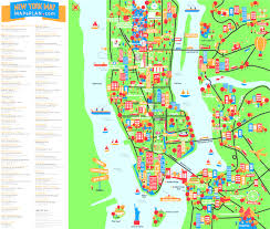 A Map Of New York City by Map Of New York City Streets And Attractions Best Map New York For