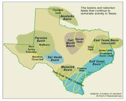 Map Of The State Of Texas Study Estimates Economic Benefits To State From Texas U0027 Oil And Gas