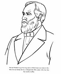 usa printables president james garfield coloring page twentieth