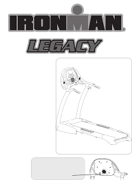 ironman fitness treadmill legacy user guide manualsonline com