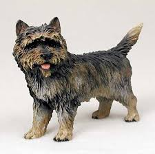 cairn terrier painted collectible figurine statue brindle