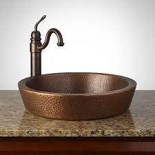 Hammered Copper Sink Reviews by Semi Recessed Copper Sink Hammered Antique Copper Patina