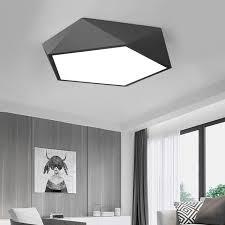 wohnzimmer licht moderne metall bett zimmer led deckenleuchte unterputz licht