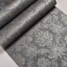 Silver Metallic Wallpaper by Online Get Cheap Damask Print Wallpaper Aliexpress Com Alibaba