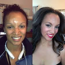 airbrush makeup for black skin before and after pictures san francisco makeup hair bridal