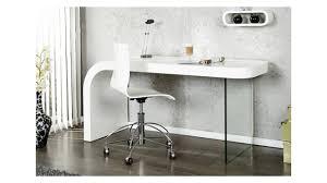 bureau design laqué blanc bureau design 140 cm alponse en blanc laqué et verre
