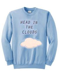 cloud sweater in the clouds sweatshirt kendrablanca