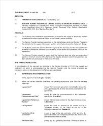 Resume Of Nanny Nanny Agreement Contract Nanny Agreement Templates It Support