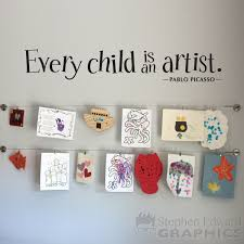 every child is an artist wall decal children artwork display