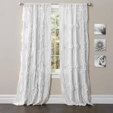 Boho Window Curtains Avery Boho Ruffle Window Curtain Panel Set