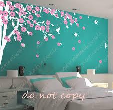 bedroom leaf bed purple curtain violet wall high bookshelf medium