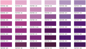 different colors of purple stylish decoration shades of purple color chart correct names of