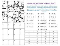 adding and subtracting integers worksheets grade 8 math teacher