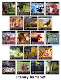 novel guide figurative language mini posters set of 18 english
