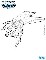 max steel flying coloring pages hellokids com