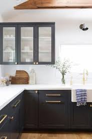 two tone kitchen cabinets with black countertops more ideas below kitchenideas kitchencabinets kitchen