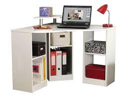 bureau etagere pas cher bureau d angle avec étagères 94 x 94 x 73 cm blanc pas cher