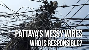 Messy Wires Pattaya U0027s Messy Electric Wires Who Is Responsible
