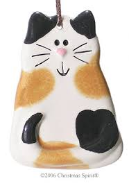 personalized calico cat ornaments