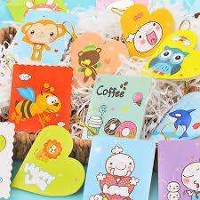 children s cards 20pcs lot creative children s card birthday wishes small card mini
