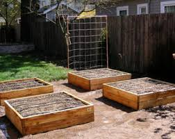 cedar raised garden etsy