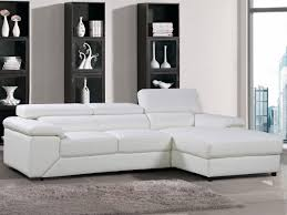 canape cuir angle droit canapé d angle cuir reconstitué pvc 4 places blanc