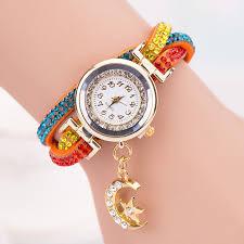 ladies bracelet wrist watches images Wo weinie women crystal band wave bracelet dial quartz analog wrap jpg
