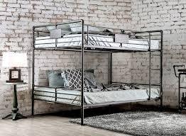 Industrial Piping Queen Over Queen Metal Bunk Bed For Sale - Queen over queen bunk bed
