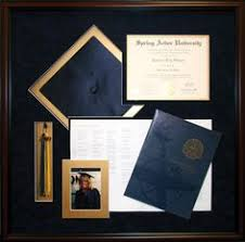 graduation shadow box cap and gown take cap and gown tassle degree and honor cord and place in a