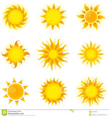 Yellow Swatches Suns Stock Vector Image Of Sunbeam Heat Yellow Collection
