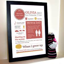 In Memory Of Gifts Personalised Personalised New Baby Memories Print By Afewhometruths